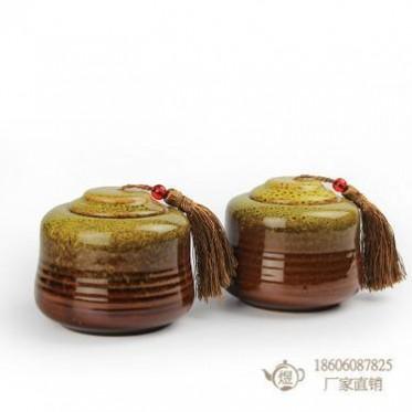茶礼雅韵窑变双罐套装 铁观音茶叶罐包装 可来样定制 厂家直销